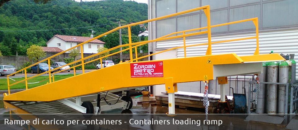 Zordan pietro realizzazione rampe da piazzale per camion for Rampe di carico per auto